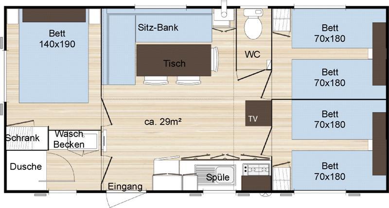 Mobile home category b for Budget salle de bain 10m2